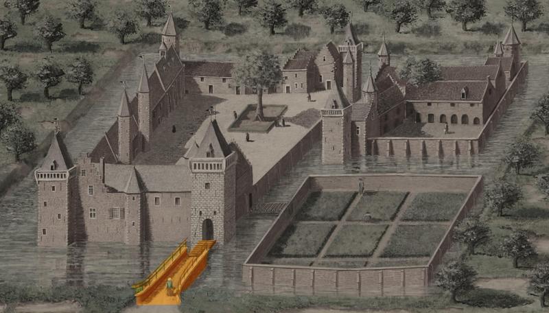 2. Brug naar het nederhof is de entree van het kasteel